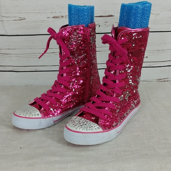 Sketchers Shoes   Sequined High Tops